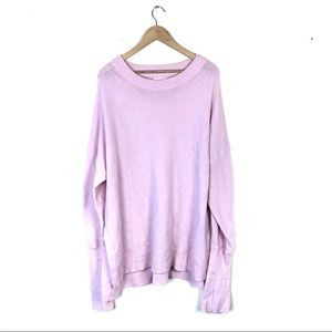 🍋 Lou & Grey Oversized Pink Sweater Size XL